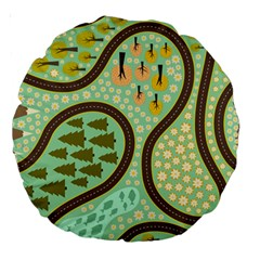 Hilly Roads Large 18  Premium Round Cushions