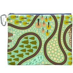 Hilly Roads Canvas Cosmetic Bag (XXXL)