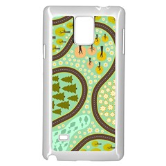 Hilly Roads Samsung Galaxy Note 4 Case (White)