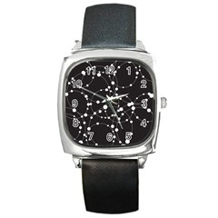 Network Square Metal Watch