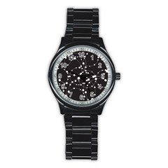 Network Stainless Steel Round Watch
