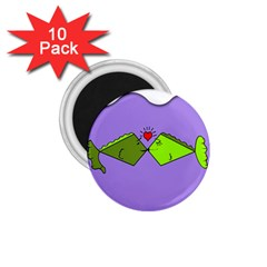 Kissing Fish 1.75  Magnets (10 pack)