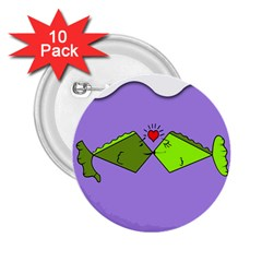 Kissing Fish 2.25  Buttons (10 pack)
