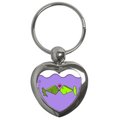 Kissing Fish Key Chains (Heart)