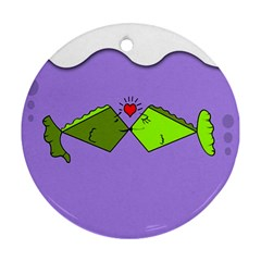 Kissing Fish Round Ornament (Two Sides)