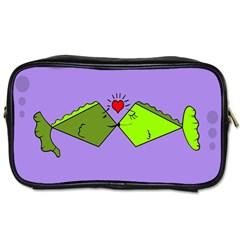Kissing Fish Toiletries Bags 2-Side