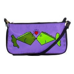 Kissing Fish Shoulder Clutch Bags