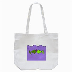 Kissing Fish Tote Bag (White)
