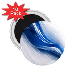 Light Waves Blue 2.25  Magnets (10 pack)