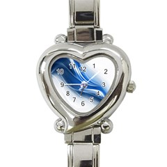 Light Waves Blue Heart Italian Charm Watch