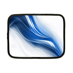 Light Waves Blue Netbook Case (Small)