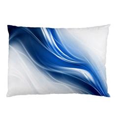 Light Waves Blue Pillow Case