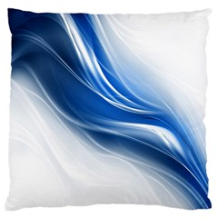Light Waves Blue Large Cushion Case (Two Sides)