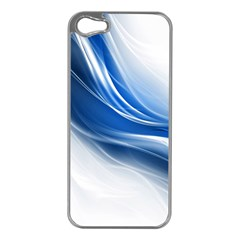 Light Waves Blue Apple iPhone 5 Case (Silver)