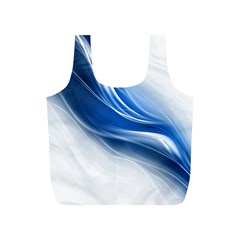 Light Waves Blue Full Print Recycle Bags (S)