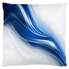 Light Waves Blue Standard Flano Cushion Case (Two Sides)