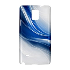 Light Waves Blue Samsung Galaxy Note 4 Hardshell Case