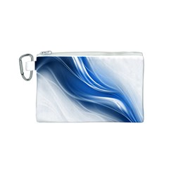 Light Waves Blue Canvas Cosmetic Bag (S)