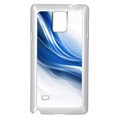 Light Waves Blue Samsung Galaxy Note 4 Case (White)