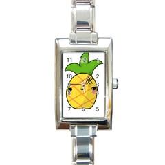 Kawaii Pineapple Rectangle Italian Charm Watch