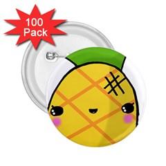 Kawaii Pineapple 2.25  Buttons (100 pack)