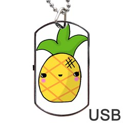 Kawaii Pineapple Dog Tag USB Flash (Two Sides)