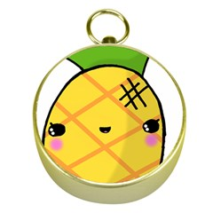 Kawaii Pineapple Gold Compasses