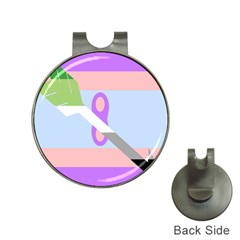 Noninsexual Aromantic Combo Flag Hat Clips with Golf Markers