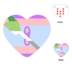 Noninsexual Aromantic Combo Flag Playing Cards (Heart)