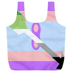 Noninsexual Aromantic Combo Flag Full Print Recycle Bags (L)