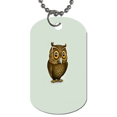 Owl Dog Tag (Two Sides)