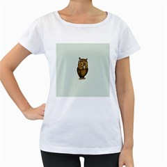 Owl Women s Loose-Fit T-Shirt (White)