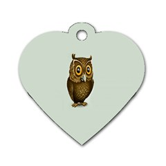 Owl Dog Tag Heart (Two Sides)