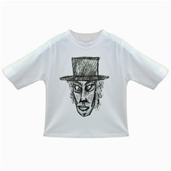 Man With Hat Head Pencil Drawing Illustration Infant/Toddler T-Shirts