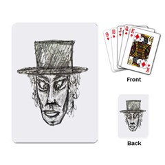Man With Hat Head Pencil Drawing Illustration Playing Card