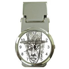 Man With Hat Head Pencil Drawing Illustration Money Clip Watches