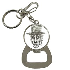 Man With Hat Head Pencil Drawing Illustration Button Necklaces