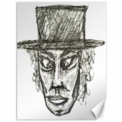 Man With Hat Head Pencil Drawing Illustration Canvas 36  x 48