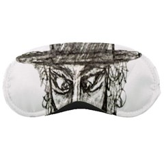Man With Hat Head Pencil Drawing Illustration Sleeping Masks