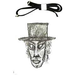 Man With Hat Head Pencil Drawing Illustration Shoulder Sling Bags