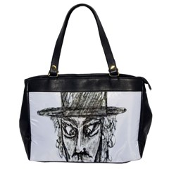 Man With Hat Head Pencil Drawing Illustration Office Handbags