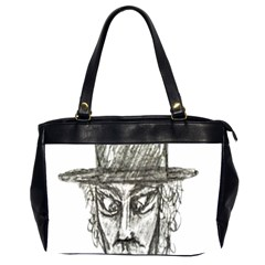 Man With Hat Head Pencil Drawing Illustration Office Handbags (2 Sides)