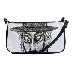 Man With Hat Head Pencil Drawing Illustration Shoulder Clutch Bags