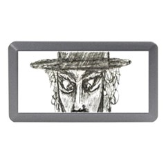 Man With Hat Head Pencil Drawing Illustration Memory Card Reader (Mini)