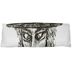 Man With Hat Head Pencil Drawing Illustration Body Pillow Case Dakimakura (Two Sides)