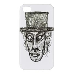 Man With Hat Head Pencil Drawing Illustration Apple iPhone 4/4S Premium Hardshell Case