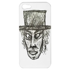 Man With Hat Head Pencil Drawing Illustration Apple iPhone 5 Hardshell Case