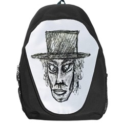 Man With Hat Head Pencil Drawing Illustration Backpack Bag