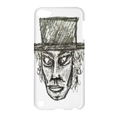 Man With Hat Head Pencil Drawing Illustration Apple iPod Touch 5 Hardshell Case