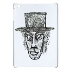 Man With Hat Head Pencil Drawing Illustration Apple iPad Mini Hardshell Case